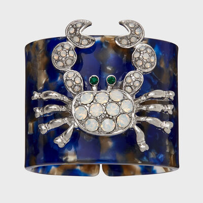Joanna Buchanan Set of 4 Blue Crab Tortoiseshell Napkin Rings, , default