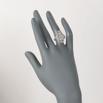 C. 2000 Vintage 1.05 ct. t.w. Diamond Dinner Ring in Platinum. Size 6.5