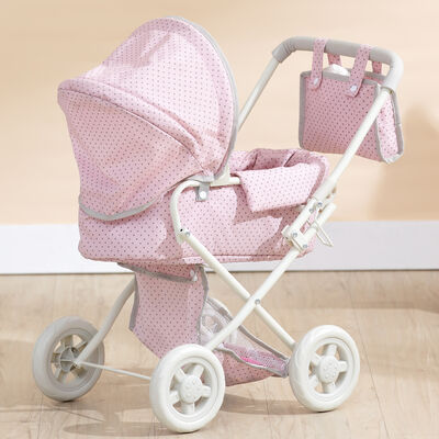 "Child's ""Polka Dot Princess"" Baby Doll Deluxe Stroller"