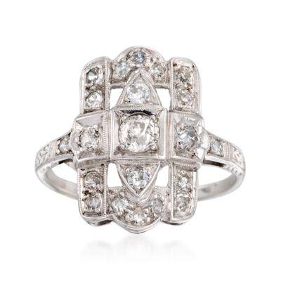 C. 1930 Vintage .75 ct. t.w. Diamond Dinner Ring in Platinum, , default