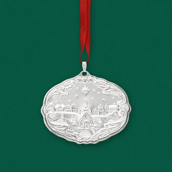 """Reed & Barton 2019 Annual """"Francis 1st Songs of Christmas"""" Sterling Silver Ornament - 17th Edition"""