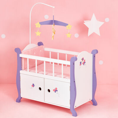 """Child's """"Little Princess"""" Baby Doll Bed with Cabinet"""