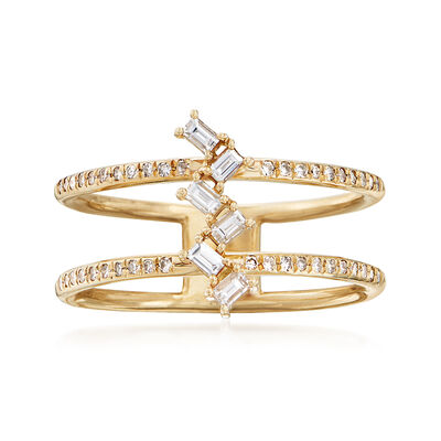 .30 ct. t.w. Diamond Double-Row Ring in 14kt Yellow Gold, , default