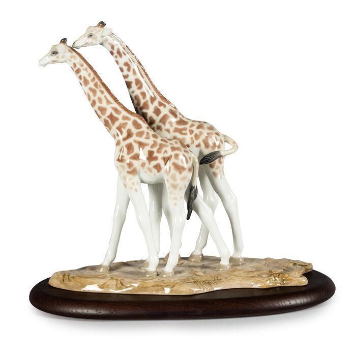 Lladro Giraffe Duo Porcelain Figurine
