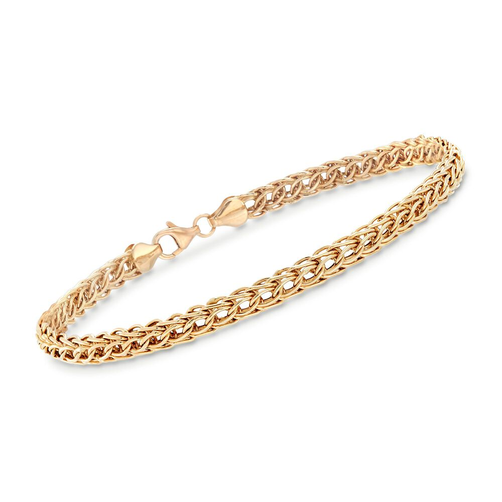 b5088d3674a 14kt Yellow Gold Braided Link Bracelet | Ross-Simons