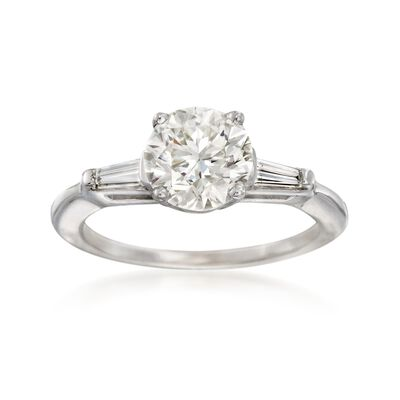 C. 2000 Vintage 2.31 ct. t.w. Certified Diamond Ring in 14kt White Gold, , default