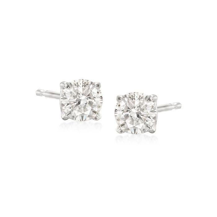 .50 ct. t.w. Diamond Stud Earrings in 14kt White Gold, , default
