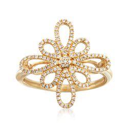 .20 ct. t.w. Diamond Open Loop Ring in 14kt Yellow Gold, , default