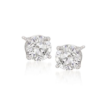 2.00 ct. t.w. CZ Stud Earrings in Sterling Silver, , default