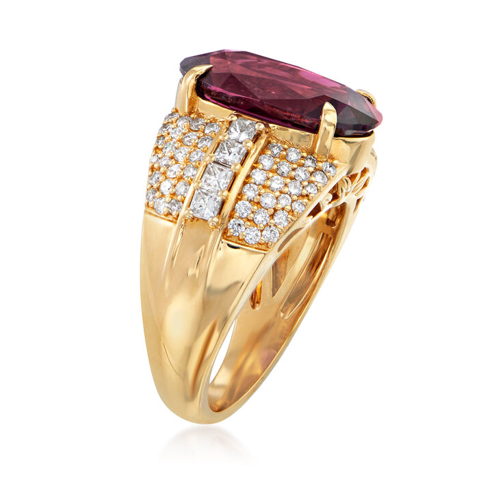 8.20 Carat Pink Spinel and 1.10 ct. t.w. Diamond Ring in 18kt Yellow Gold