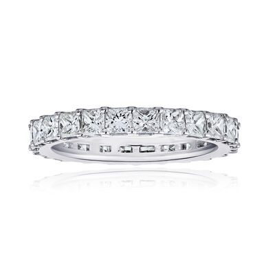 3.80 ct. t.w. Princess-Cut Diamond Eternity Band in 14kt White Gold, , default