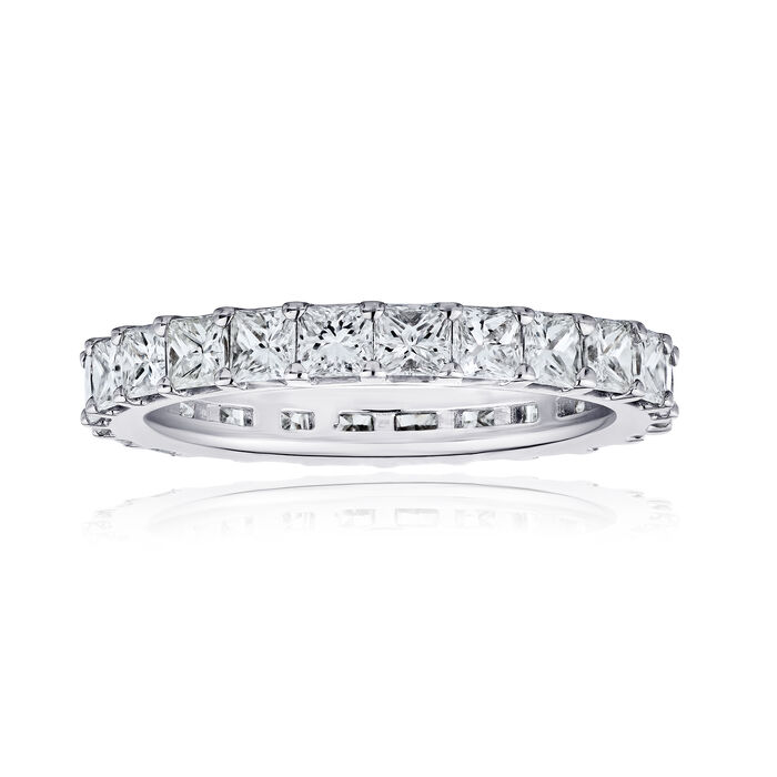3.80 ct. t.w. Princess-Cut Diamond Eternity Band in 14kt White Gold