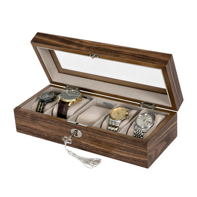 "Mele & Co. ""Laramie"" Wooden Locking Watch Box, , default"