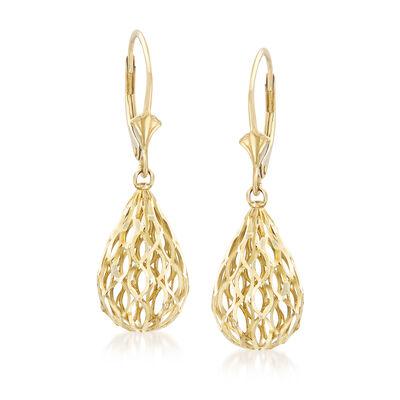 14kt Yellow Gold Drop Earrings, , default