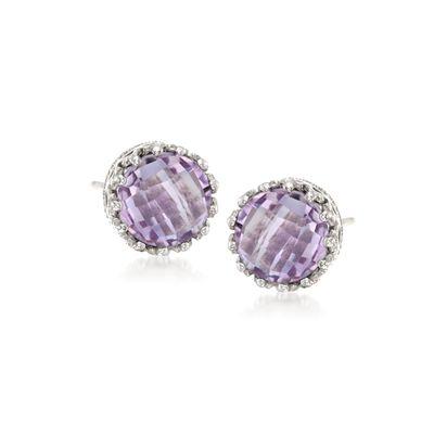 3.50 ct. t.w. Amethyst Stud Earrings in Sterling Silver, , default