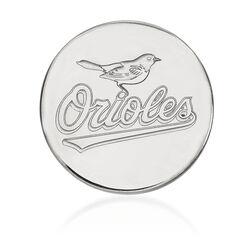 14kt White Gold MLB Baltimore Orioles Lapel Pin, , default