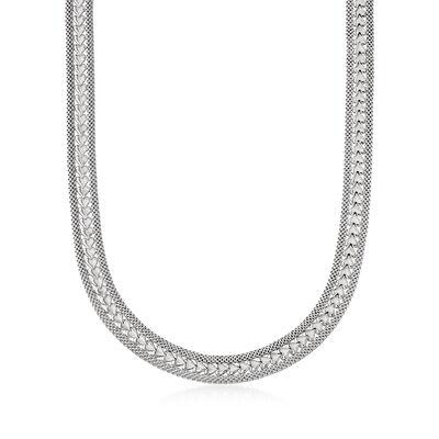 Italian Sterling Silver Heart Necklace, , default
