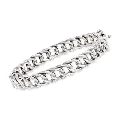 Italian Sterling Silver Curb-Link Bracelet