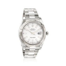 Certified Pre-Owned Rolex Datejust II Men's 41mm Automatic Watch in Stainless Steel and 18kt White Gold , , default