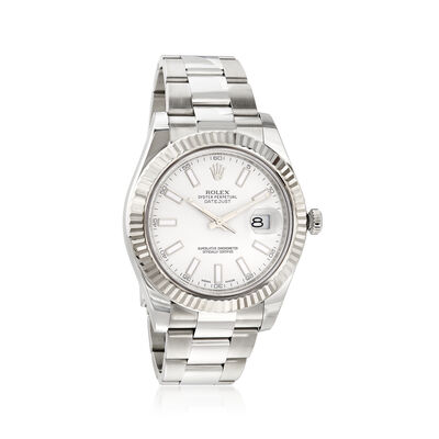 Pre-Owned Rolex Datejust II Men's 41mm Automatic Watch in Stainless Steel and 18kt White Gold , , default