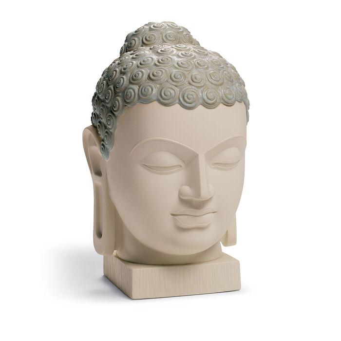 "Lladro ""Buddha II"" Porcelain and Enamel Figurine"