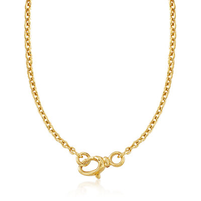 858ca9122 Italian Andiamo 5mm 14kt Yellow Gold Rounded Cable Chain Necklace, , default
