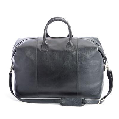 """Royce """"Executive Office"""" Black Leather Weekender Duffel Bag, , default"""