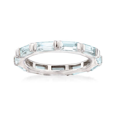 2.40 ct. t.w. Blue Topaz Eternity Ring in Sterling Silver, , default