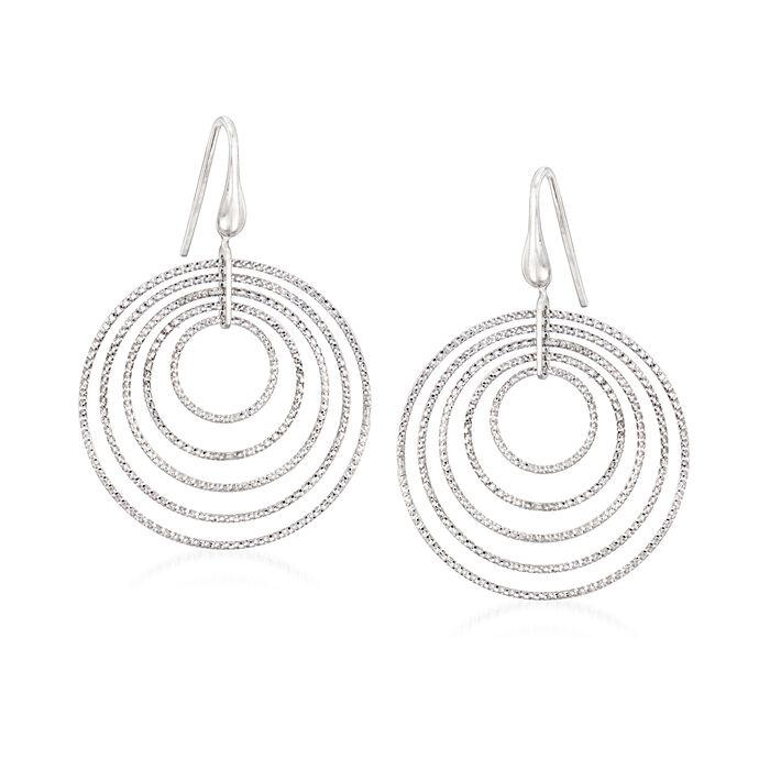 """Charles Garnier """"Saturnia"""" Large Multi-Circle Drop Earrings in Sterling Silver, , default"""
