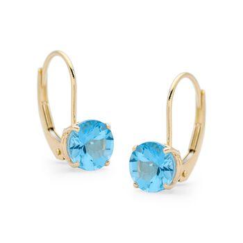 2.00 ct. t.w. Blue Topaz Earrings in 14kt Yellow Gold, , default