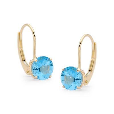 2.00 ct. t.w. Blue Topaz Earrings in 14kt Yellow Gold , , default