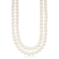 6.5-7mm Cultured Pearl Two-Strand Necklace With 14kt Yellow Gold, , default