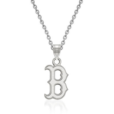 """Sterling Silver MLB Boston Red Sox Pendant Necklace. 18"""", , default"""