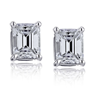 .70 ct. t.w. Diamond Stud Earrings in 14kt White Gold, , default