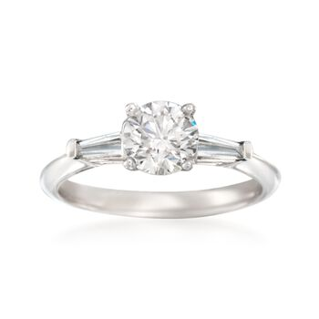 1.37 ct. t.w. Certified Diamond Engagement Ring in 14kt Yellow Gold, , default