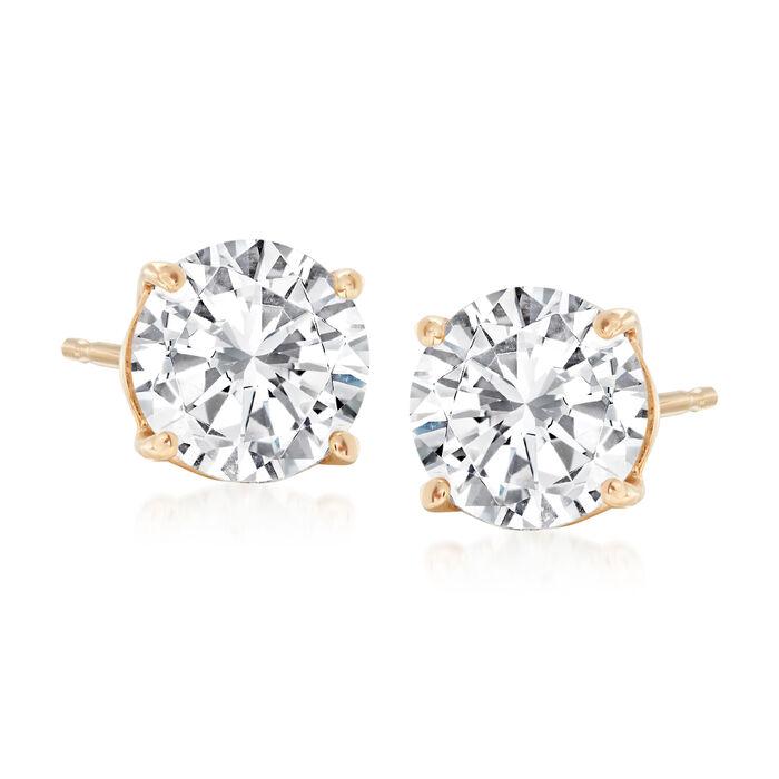 2.00 ct. t.w. Diamond Stud Earrings in 14kt Yellow Gold, , default