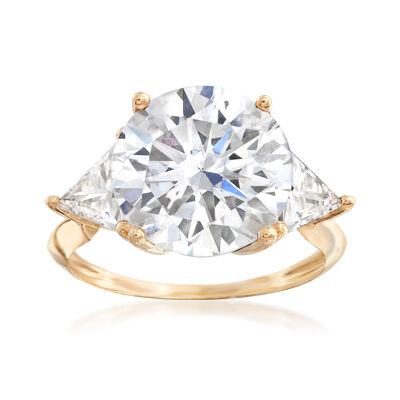8.00 ct. t.w. CZ Ring in 14kt Yellow Gold, , default