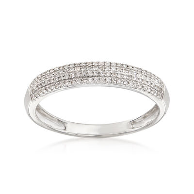 .15 ct. t.w. Pave Diamond Multi-Row Ring in 14kt White Gold, , default