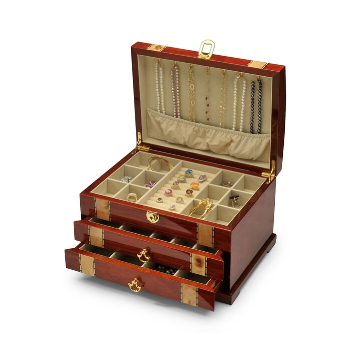 Handcrafted Wooden Jewelry Box, , default