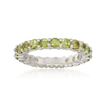 2.40 ct. t.w. Peridot Eternity Band in Sterling Silver, , default