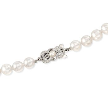 Mikimoto 7-7.5mm 'A' Akoya Pearl Necklace with 18kt White Gold. 40""