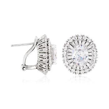 6.10 ct. t.w. CZ Earrings in Sterling Silver, , default
