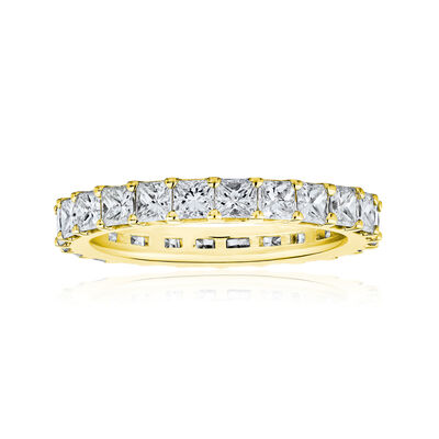 4.90 ct. t.w. Princess-Cut Diamond Eternity Band in 14kt Yellow Gold, , default