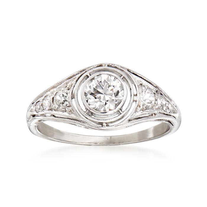 C. 1950 Vintage .60 ct. t.w. Diamond Ring in Platinum