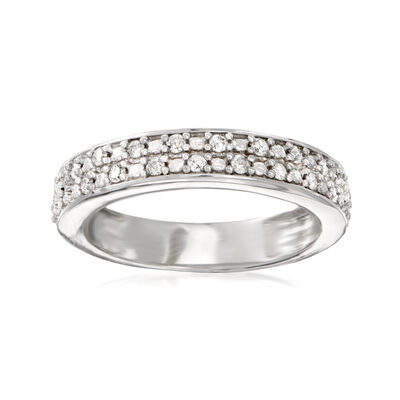 .25 ct. t.w. Diamond Two-Row Ring in Sterling Silver