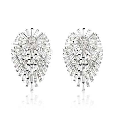 6.59 ct. t.w. Diamond Drop Earrings in 18kt White Gold