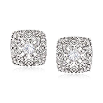 1.10 ct. t.w. CZ Earrings in Sterling Silver