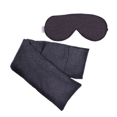 Charcoal Wool Hot/Cold Pack and Eye Mask Set