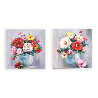Roses in Bloom Set of 2 Wall Art