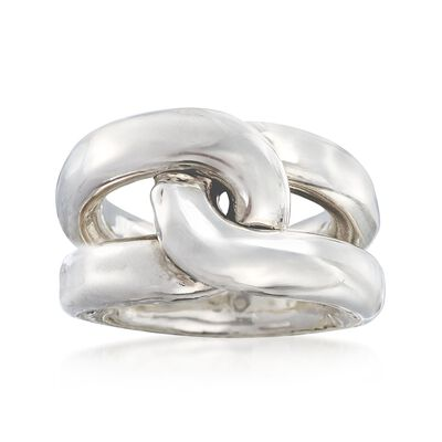 Sterling Silver Twisted Ring, , default